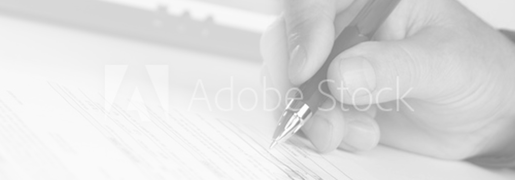 Adobe Stock photo of hand with pen
